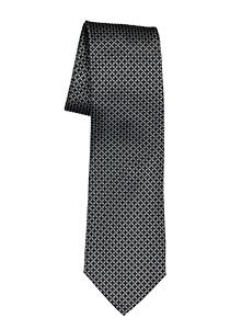 ETERNA stropdas, zwart met grijs structuur