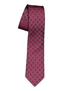 ETERNA smalle stropdas, bordeaux rood dessin