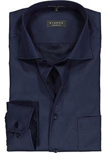 ETERNA comfort fit overhemd, twill heren overhemd, donkerblauw