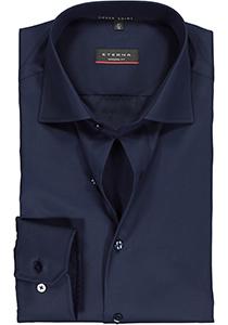 ETERNA modern fit overhemd, twill heren overhemd, donkerblauw