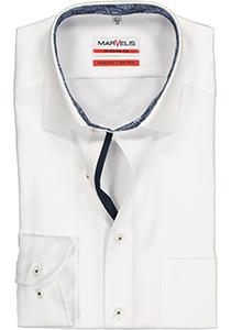 MARVELIS Modern Fit overhemd, wit twill (contrast)