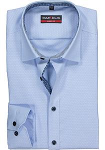 MARVELIS Body Fit overhemd, mouwlengte 7, lichtblauw gestipt structuur (contrast)