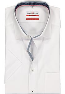 MARVELIS Modern Fit overhemd, korte mouw, wit (contrast)