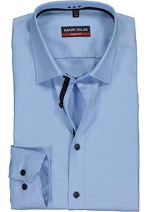 MARVELIS Body Fit overhemd, lichtblauw twill (contrast)