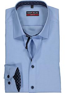 MARVELIS Body Fit overhemd, lichtblauw structuur (contrast)