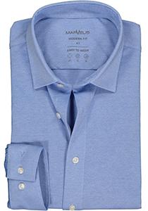 MARVELIS jersey modern fit overhemd, lichtblauw tricot