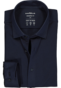 MARVELIS jersey modern fit overhemd, donkerblauw tricot