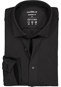 MARVELIS jersey modern fit overhemd, zwart tricot