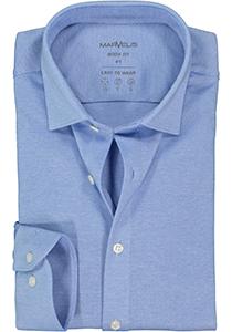 MARVELIS jersey body fit overhemd, lichtblauw tricot