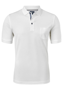 OLYMP modern fit poloshirt, wit