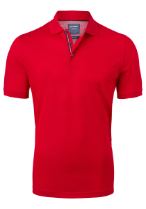 OLYMP modern fit poloshirt, rood