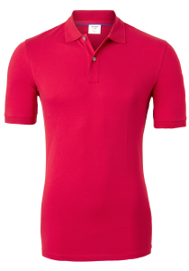 OLYMP Level 5 body fit poloshirt, stretch, rood