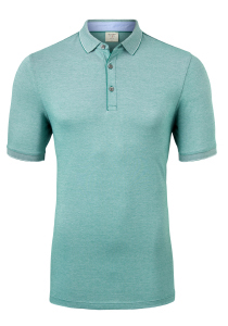 OLYMP Level 5 body fit poloshirt, stretch, groen melange
