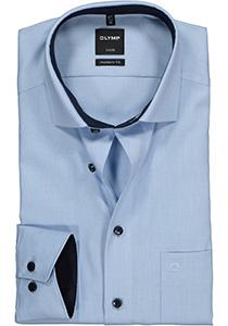 OLYMP Luxor Modern Fit overhemd, lichtblauw natte (contrast)