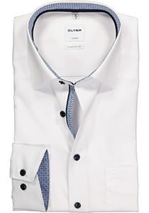 OLYMP Luxor Comfort Fit overhemd, wit (contrast)