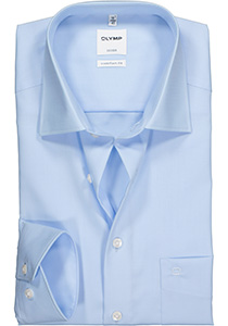 OLYMP Luxor Comfort Fit overhemd, mouwlengte 7, lichtblauw