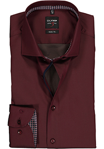 OLYMP Level 5 Body Fit overhemd, bordeaux rood  (contrast)