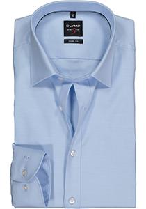 OLYMP Level 5 Body Fit overhemd, lichtblauw twill