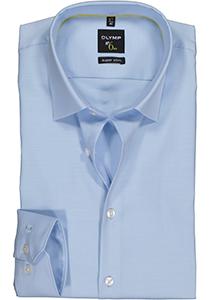 OLYMP No. Six super slim fit overhemd, lichtblauw twill