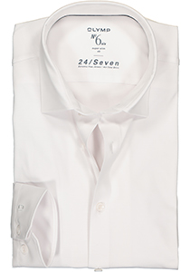 OLYMP No. Six 24/Seven super slim fit overhemd, tricot, wit