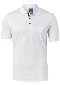 OLYMP modern fit poloshirt, active dry, wit