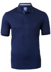 OLYMP modern fit poloshirt, active dry, nachtblauw