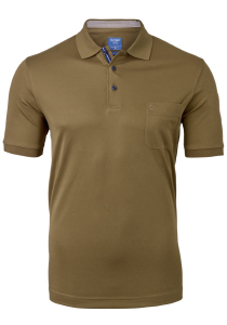 OLYMP modern fit poloshirt, active dry, bruin