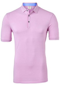 OLYMP Level 5 body fit poloshirt, stretch, roze melange