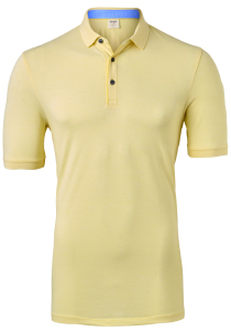 OLYMP Level 5 body fit poloshirt, stretch, geel melange