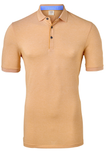 OLYMP Level 5 body fit poloshirt, stretch, oranje melange