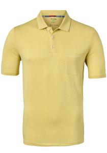 OLYMP modern fit poloshirt, linnen stretch, geel