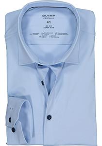 OLYMP No. Six 24/Seven super slim fit overhemd, lichtblauw tricot