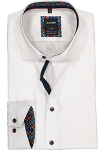 OLYMP Luxor modern fit overhemd, wit Oxford