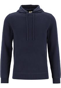 OLYMP Level 5 hoodie katoen, pique heren trui met capuchon, marine blauw