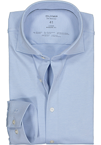 OLYMP Luxor 24/Seven modern fit overhemd, mouwlengte 7, lichtblauw tricot