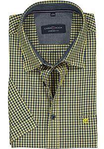 Casa Moda Sport Comfort Fit overhemd, blauw met geel geruit