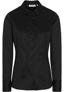 ETERNA dames blouse slim fit, zwart