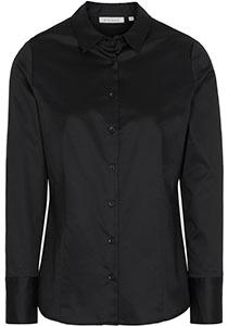 ETERNA dames blouse modern classic, zwart
