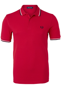 Fred Perry M3600 polo twin tipped shirt, Racing red