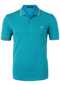 Fred Perry M3600 polo twin tipped shirt, Fanfare / 50's Silver / 50's Silver