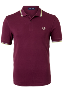 Fred Perry M3600 polo twin tipped shirt, Aubergine / Rain / Willow