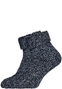 Homepads huissokken wol, blauw gemêleerd