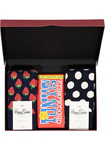 Happy Chocolade cadeauset; Aardbeien met slagroom en chocolade
