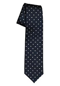Pelucio stropdas, donkerblauw met wit dessin