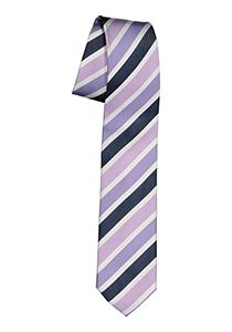 Pelucio stropdas, blauw met paarse streep