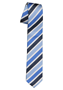 Pelucio stropdas, blauw gestreept