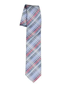 Pelucio stropdas, blauw met rood geruit