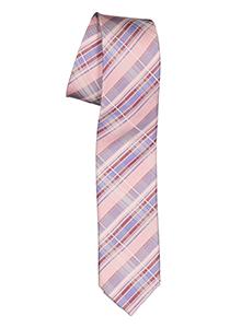 Pelucio stropdas, roze geruit