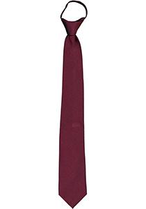 Pelucio voorgeknoopte stropdas met rits, bordeaux rood