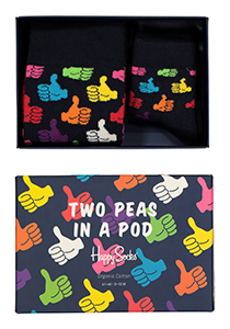 Happy Socks herensokken, Two peas in a pod Gift box